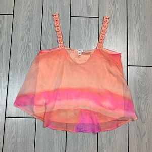 Awesome Comfy Flowy Sherbert Vibrant Crop Top 🌟✨